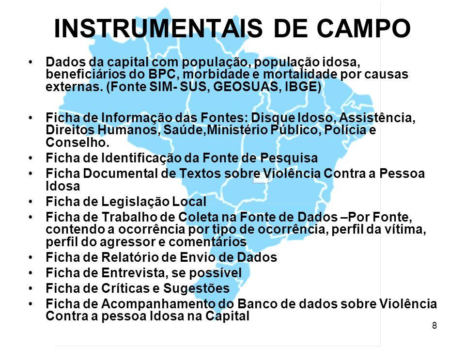 INSTRUMENTAIS DE CAMPO