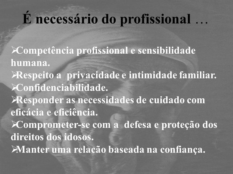 É necessário do profissional …
