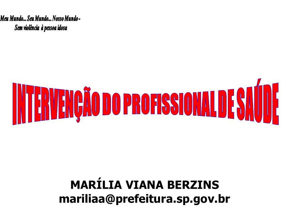 INTERVENÇÃO DO PROFISSIONAL DE SAÚDE