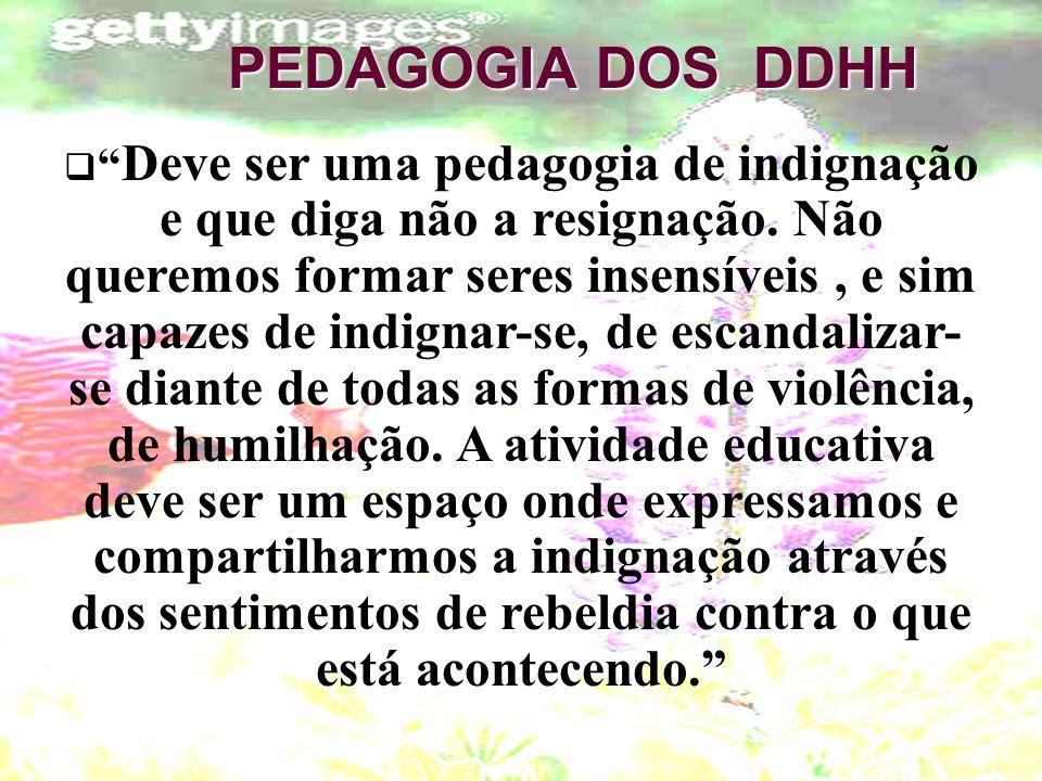 PEDAGOGIA DOS DDHH