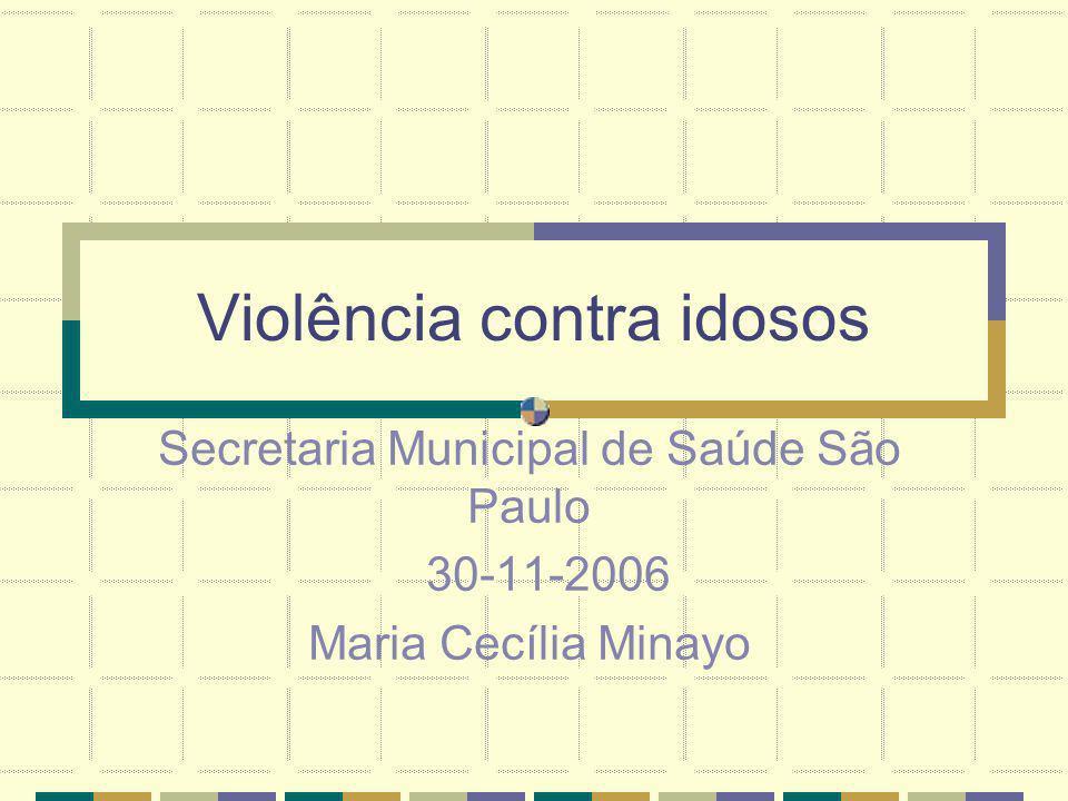 Violência contra idosos