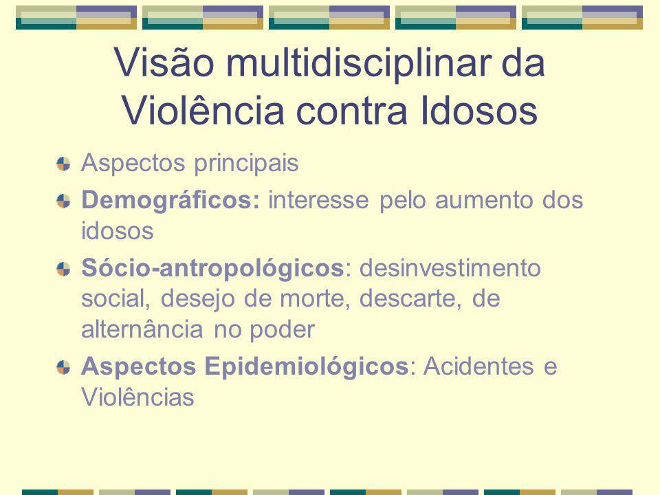Visão multidisciplinar da Violência contra Idosos