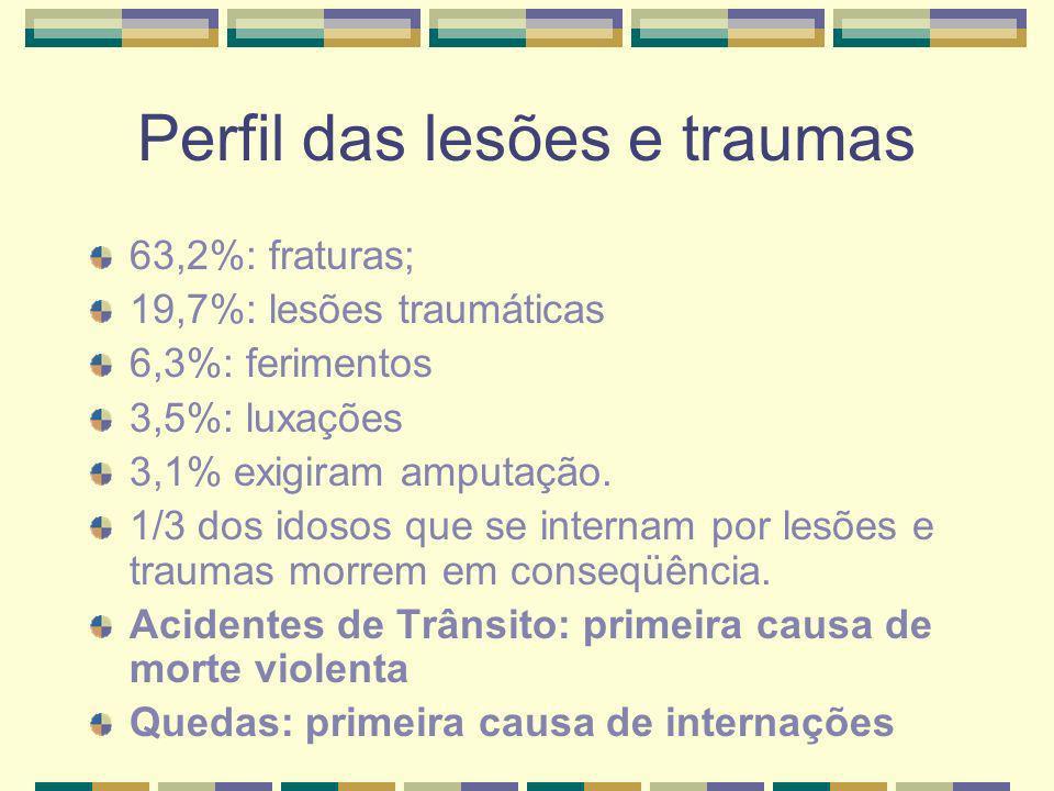 Perfil das lesões e traumas