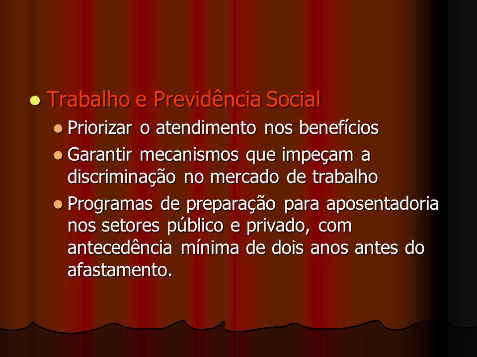 Trabalho e Previdência Social