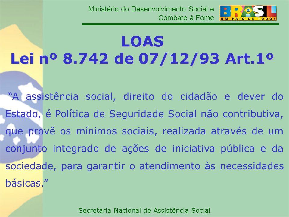 LOAS Lei nº 8.742 de 07/12/93 Art.1º