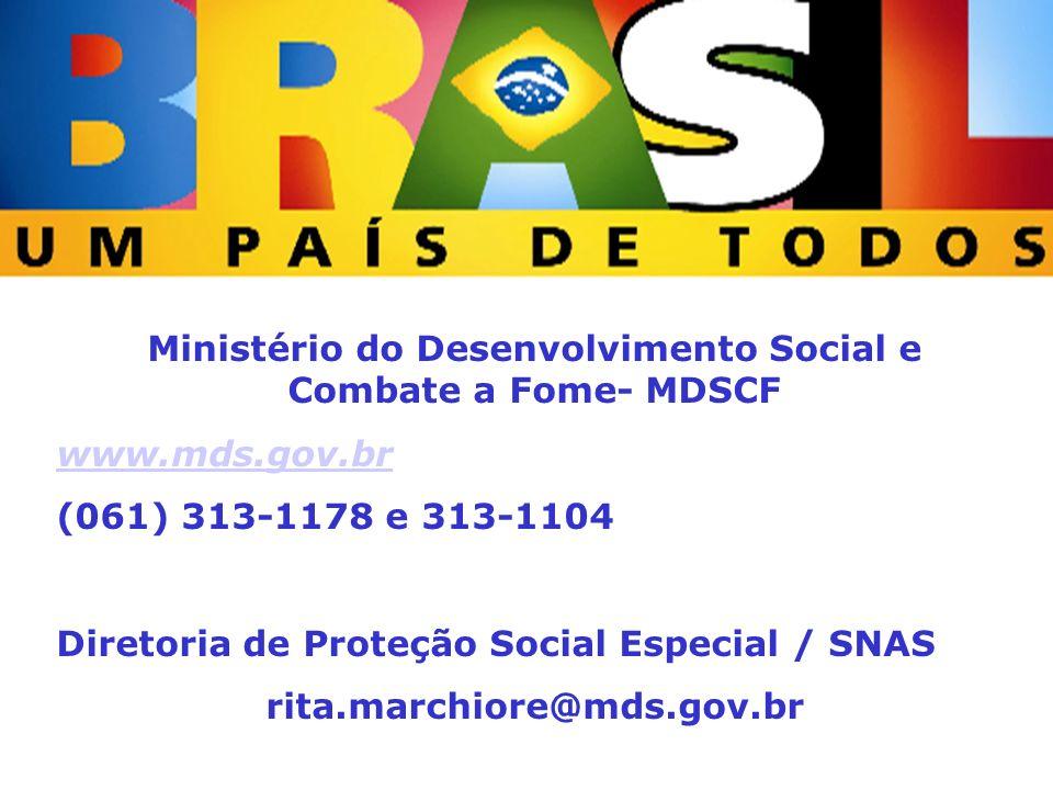 Ministério do Desenvolvimento Social e Combate a Fome- MDSCF