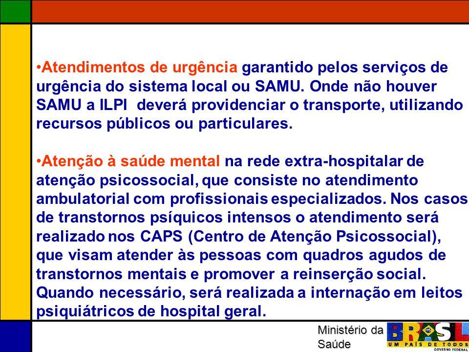 Atendimentos de urgência garantido pelos serviços de