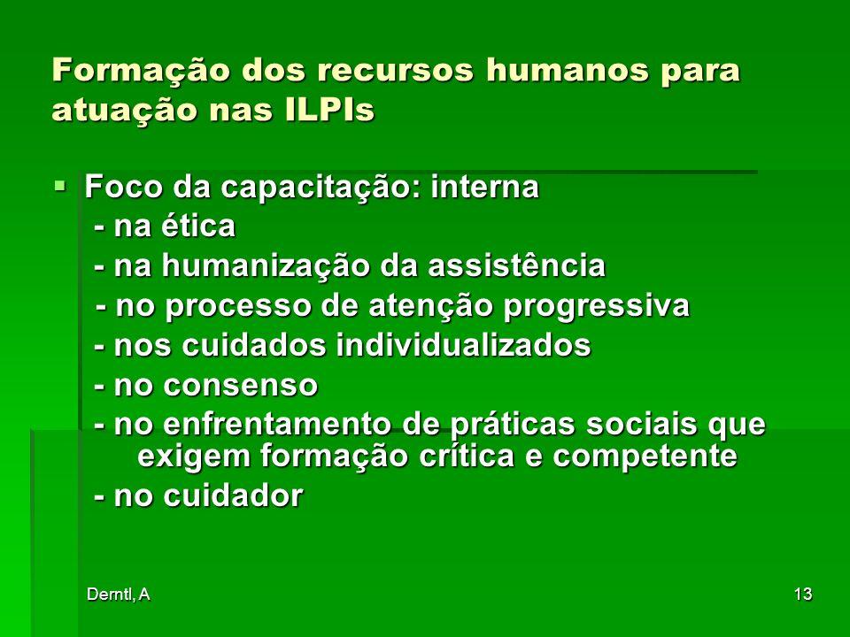 Formação dos recursos humanos para atuação nas ILPIs