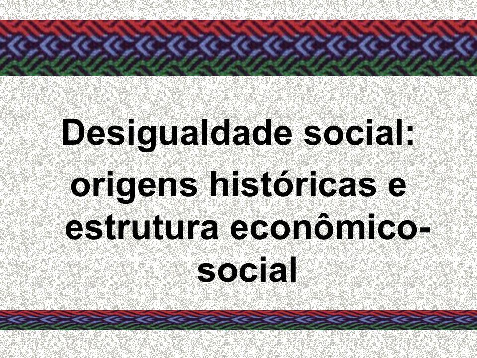 origens históricas e estrutura econômico-social
