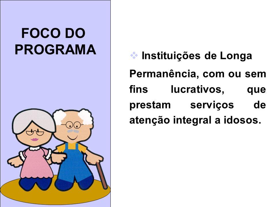 FOCO DO PROGRAMA Instituições de Longa