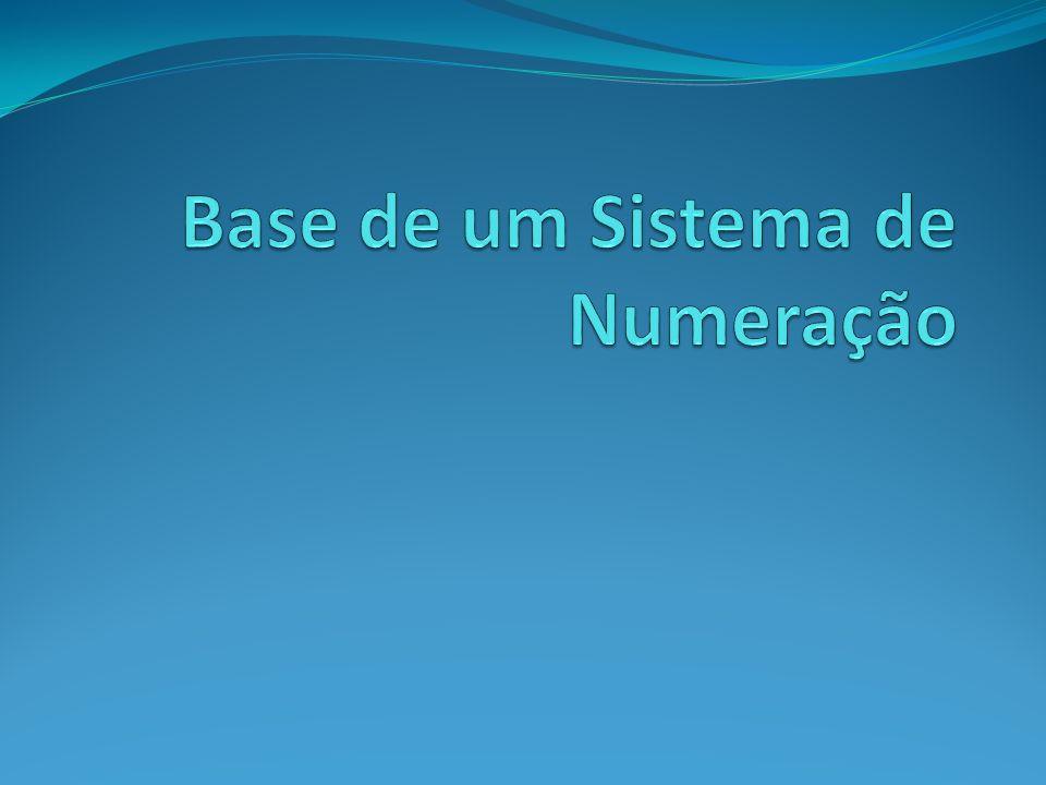 Base de um Sistema de Numeração
