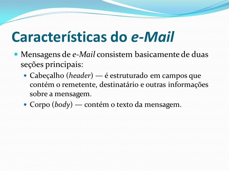 Características do e-Mail