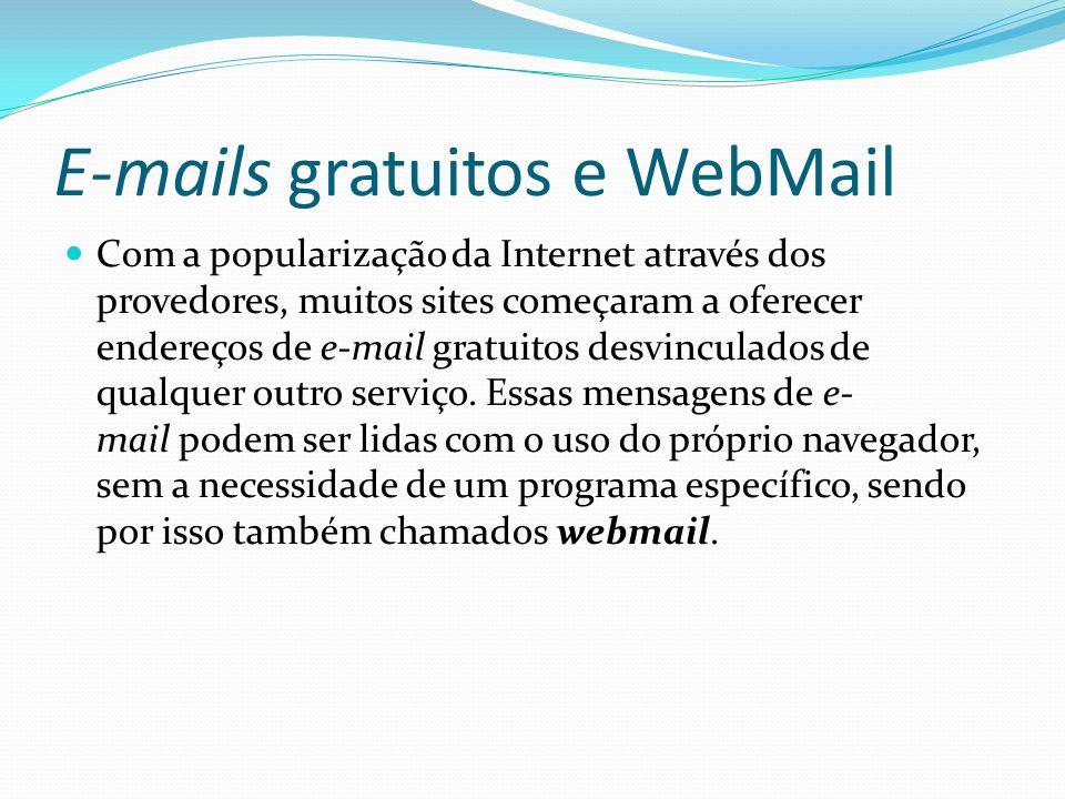 E-mails gratuitos e WebMail