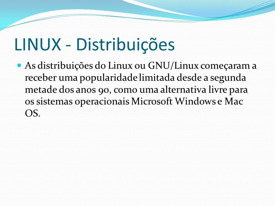 LINUX - Distribuições