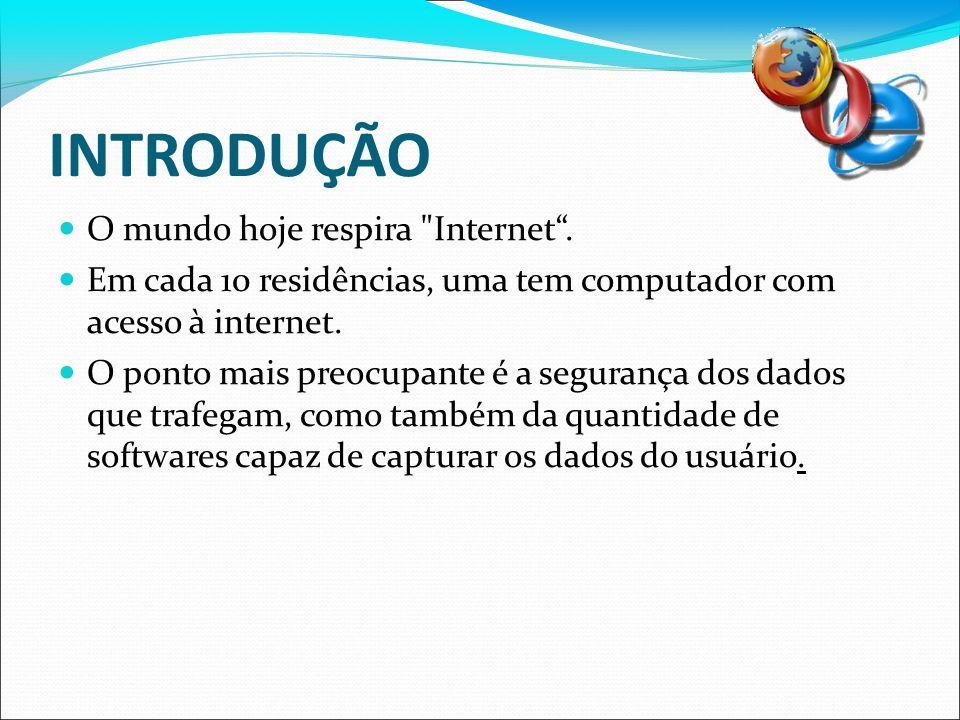 INTRODUÇÃO O mundo hoje respira Internet .