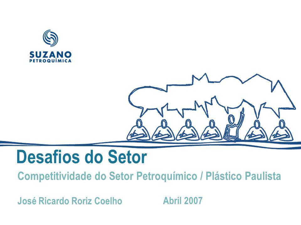 Desafios do Setor Competitividade do Setor Petroquímico / Plástico Paulista. José Ricardo Roriz Coelho.