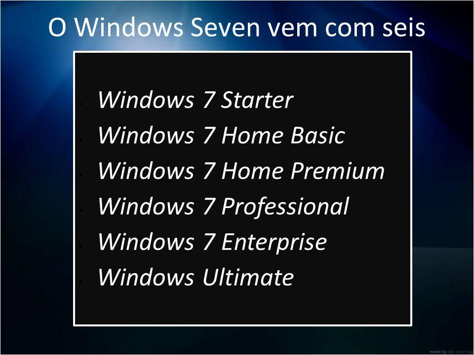 O Windows Seven vem com seis versões: