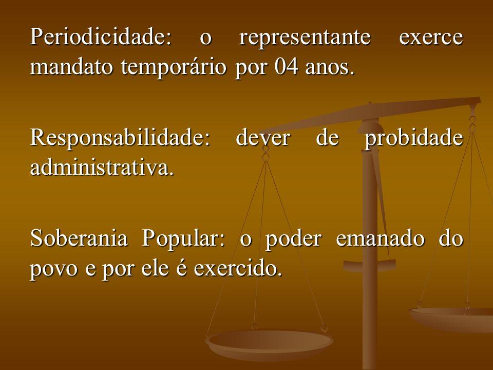 Periodicidade: o representante exerce mandato temporário por 04 anos.