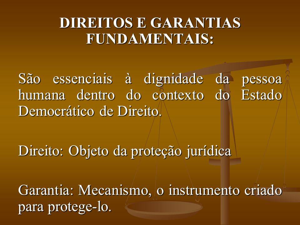 DIREITOS E GARANTIAS FUNDAMENTAIS: