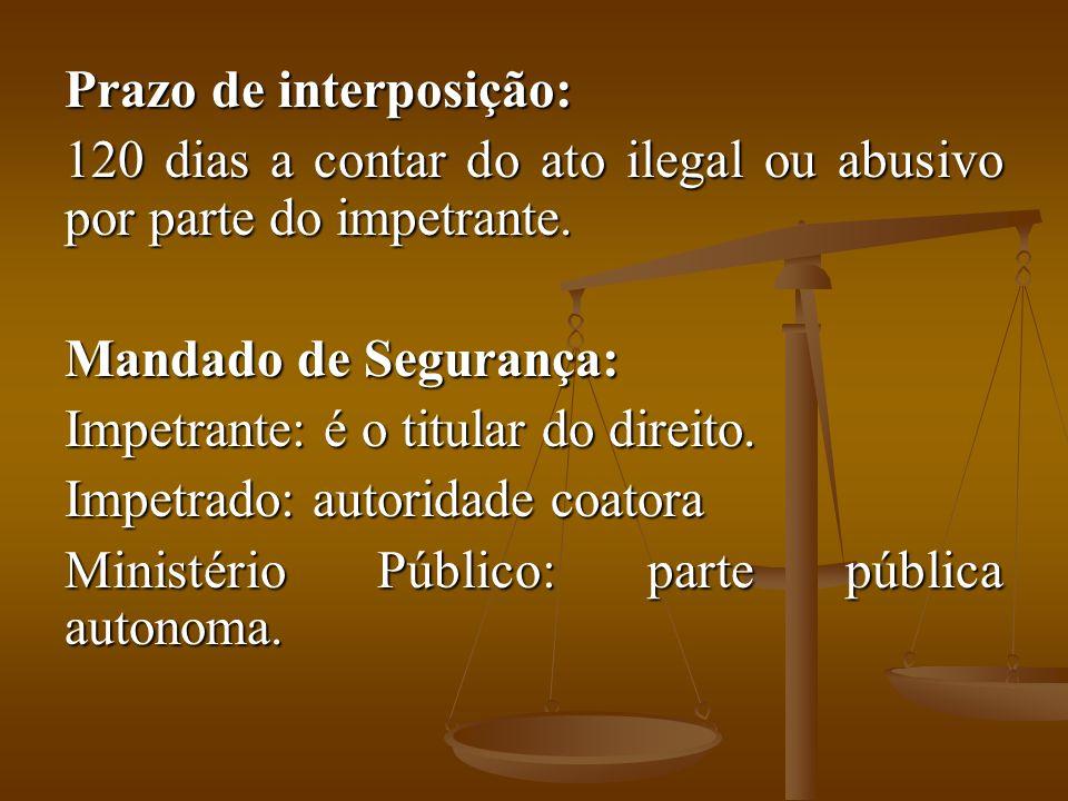 Prazo de interposição: