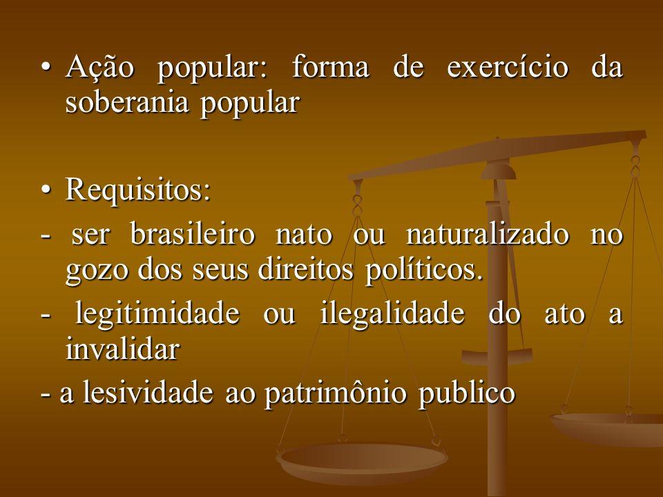 Ação popular: forma de exercício da soberania popular
