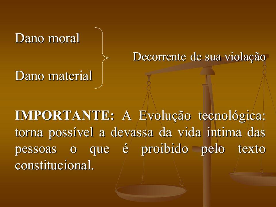 Dano moral Dano material