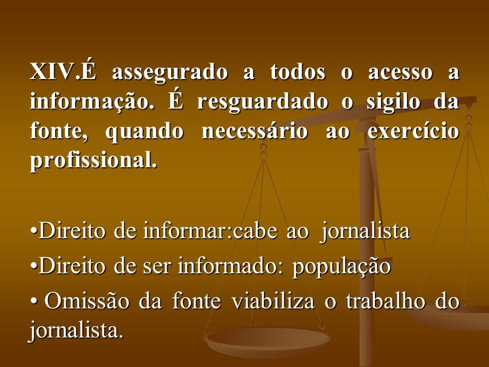 É assegurado a todos o acesso a informação