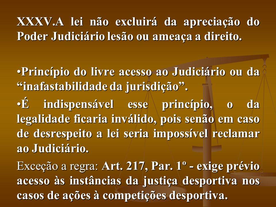 A lei não excluirá da apreciação do Poder Judiciário lesão ou ameaça a direito.