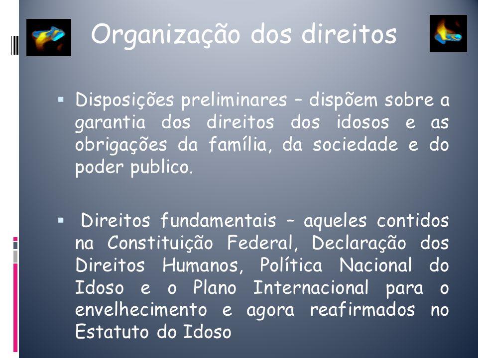 Organização dos direitos