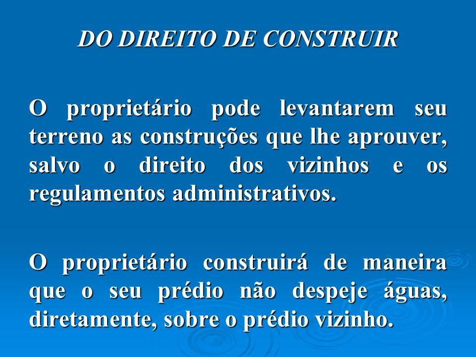 DO DIREITO DE CONSTRUIR