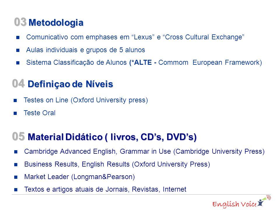 05 Material Didático ( livros, CD's, DVD's)