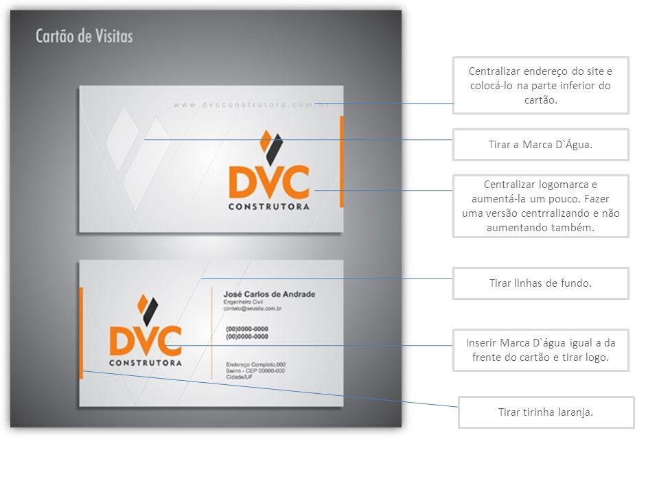 Centralizar endereço do site e colocá-lo na parte inferior do cartão.