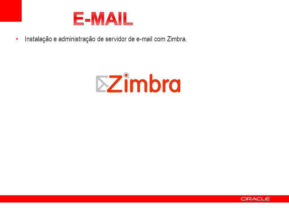E-MAIL Instalação e administração de servidor de e-mail com Zimbra.