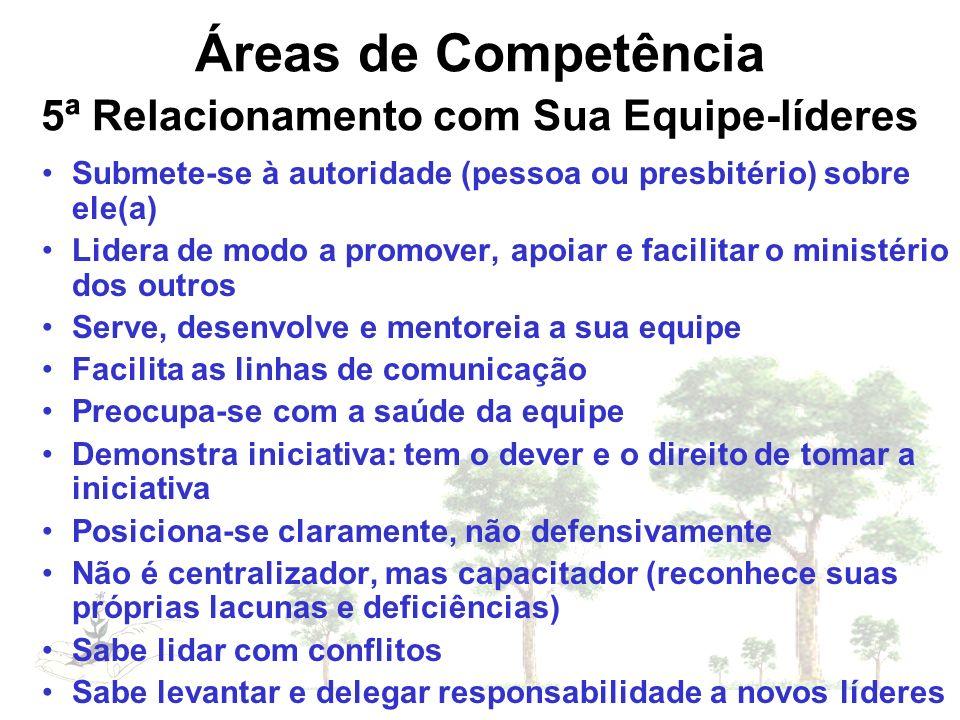 Áreas de Competência 5ª Relacionamento com Sua Equipe-líderes