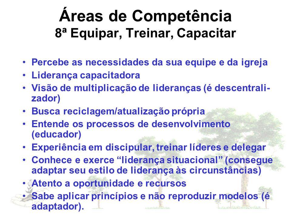Áreas de Competência 8ª Equipar, Treinar, Capacitar