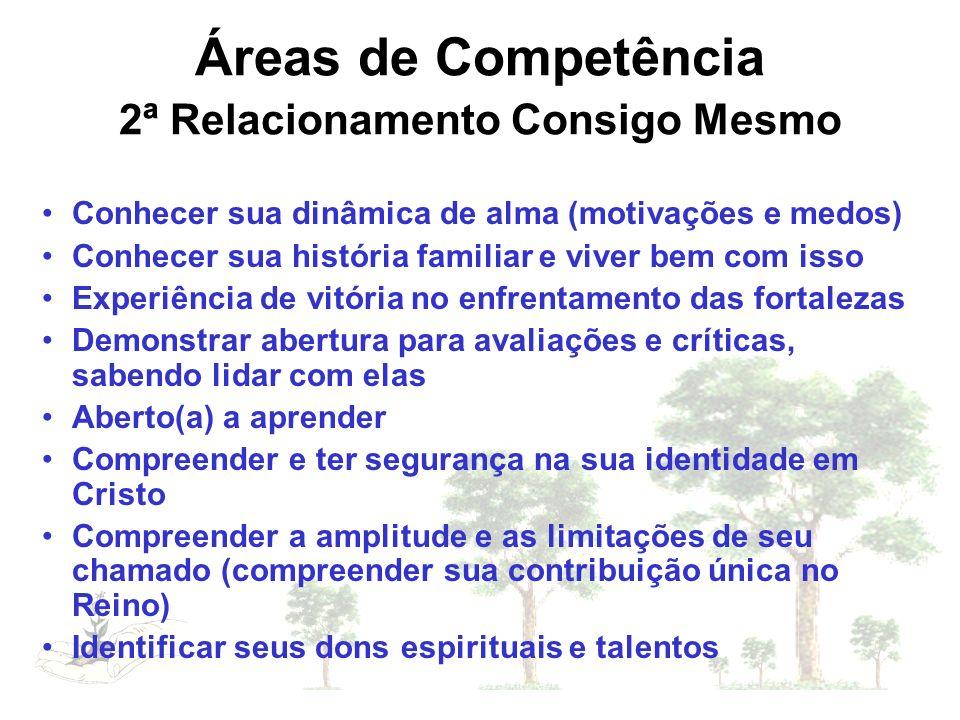 Áreas de Competência 2ª Relacionamento Consigo Mesmo