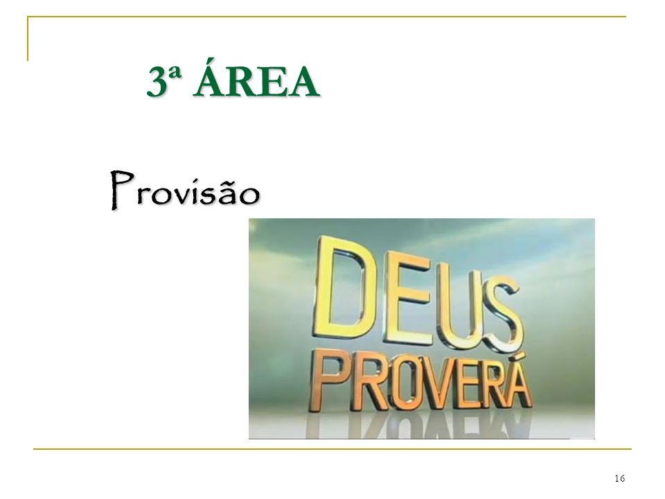 3ª ÁREA Provisão