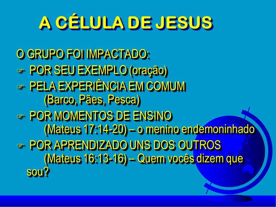 A CÉLULA DE JESUS O GRUPO FOI IMPACTADO: POR SEU EXEMPLO (oração)
