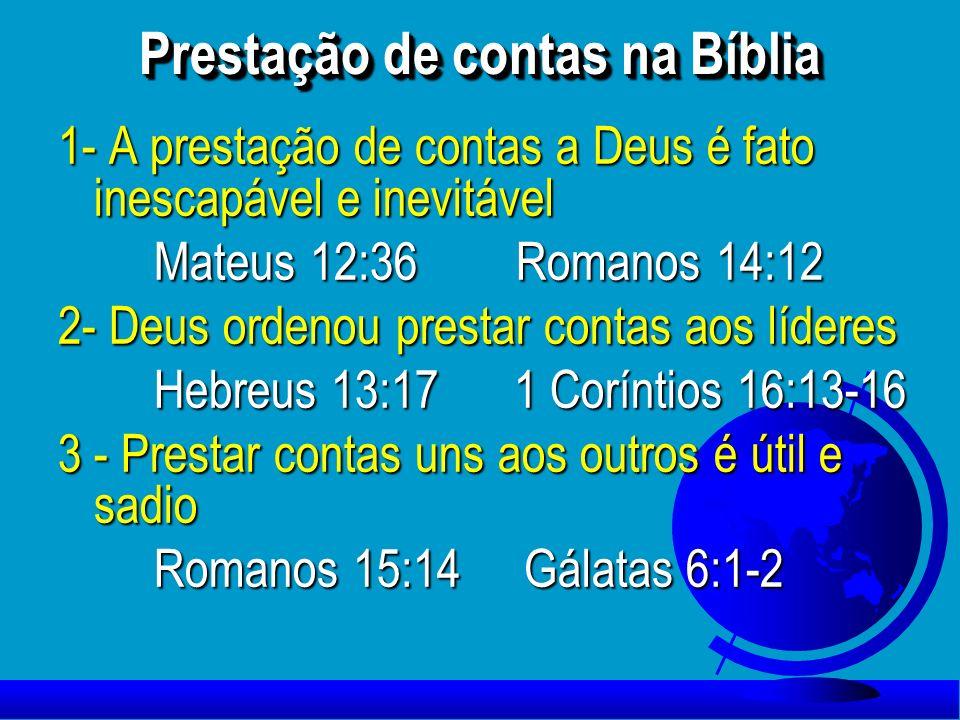 Prestação de contas na Bíblia