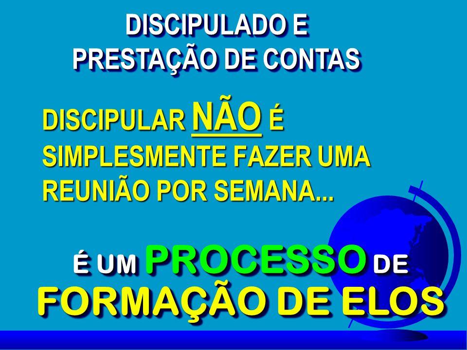DISCIPULAR NÃO É SIMPLESMENTE FAZER UMA REUNIÃO POR SEMANA...