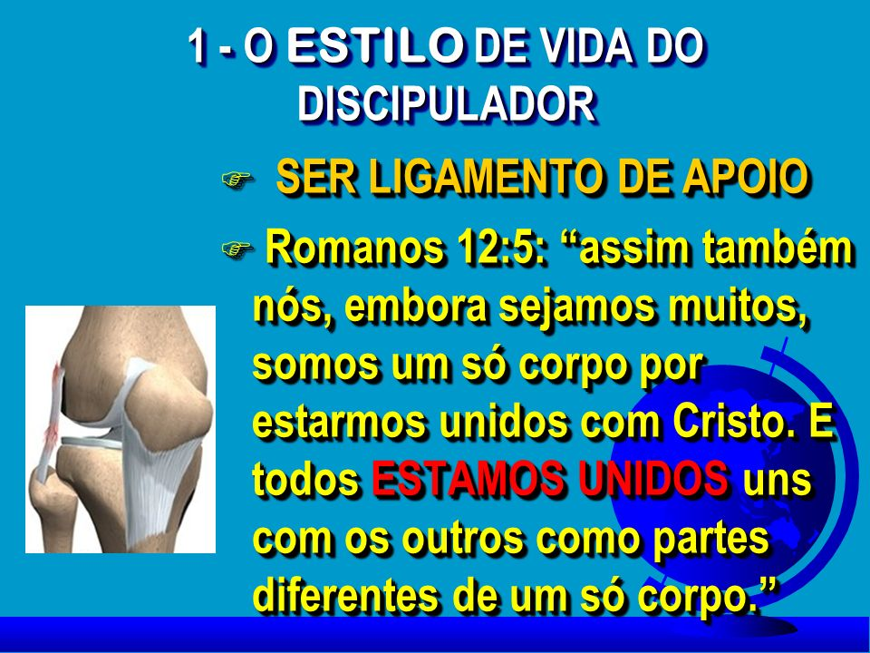 1 - O ESTILO DE VIDA DO DISCIPULADOR