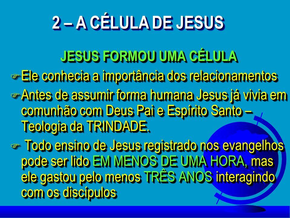 JESUS FORMOU UMA CÉLULA