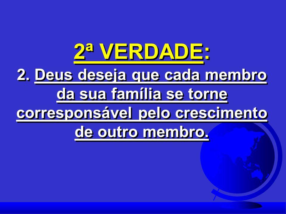 2ª VERDADE: 2. Deus deseja que cada membro da sua família se torne corresponsável pelo crescimento.