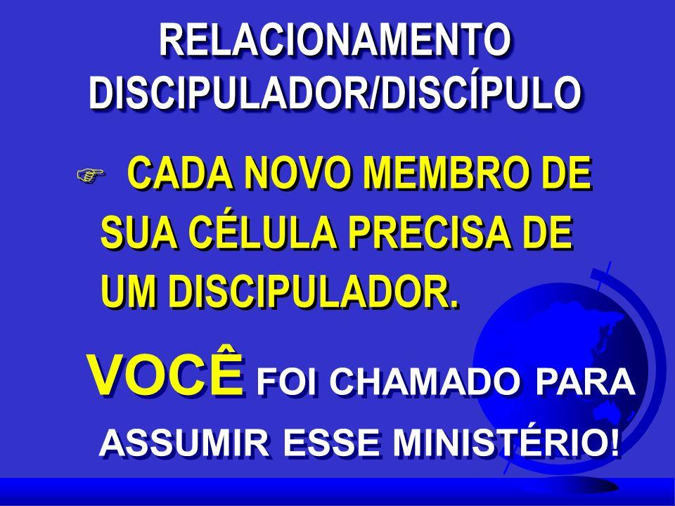 RELACIONAMENTO DISCIPULADOR/DISCÍPULO