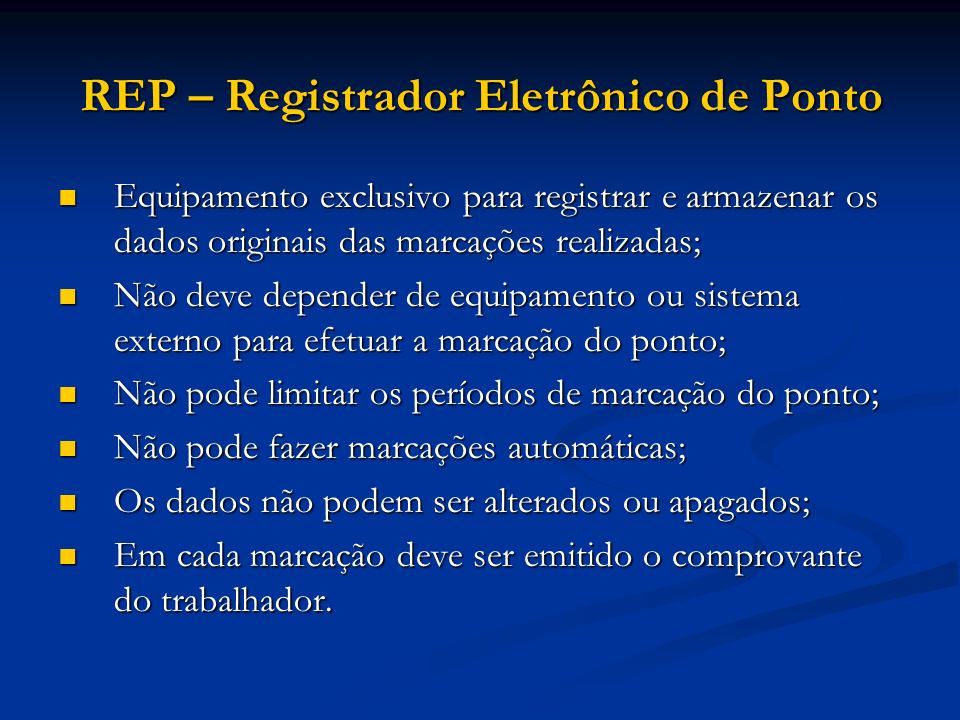 REP – Registrador Eletrônico de Ponto