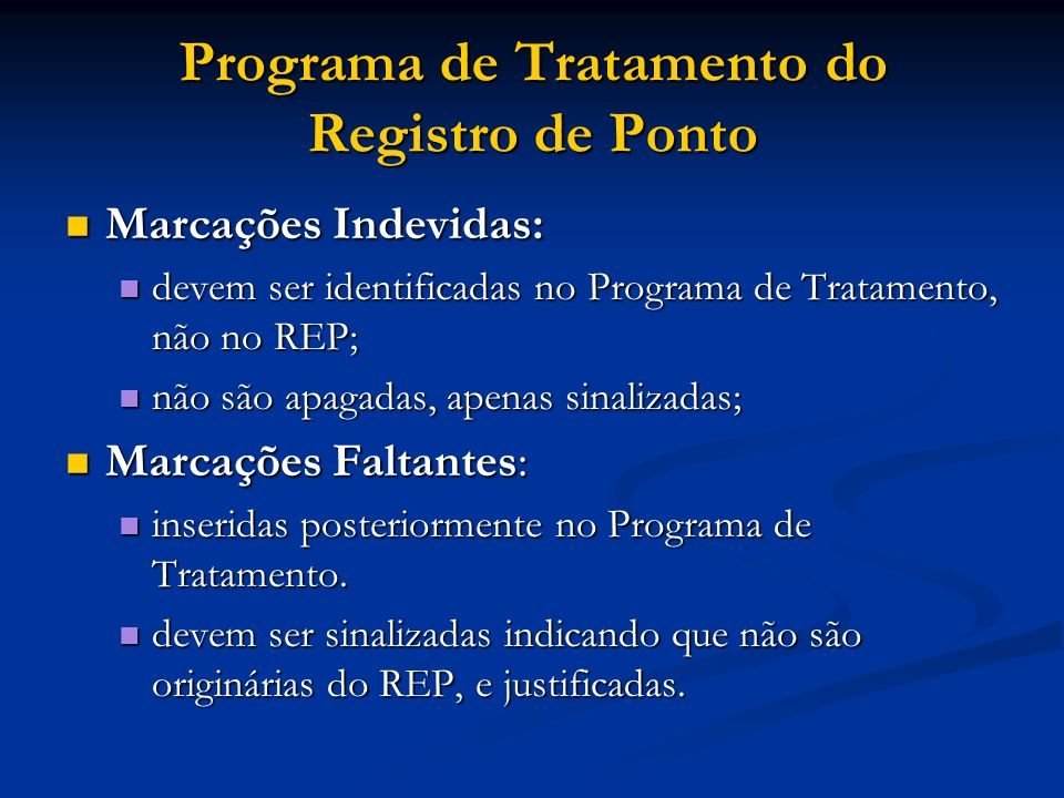Programa de Tratamento do Registro de Ponto