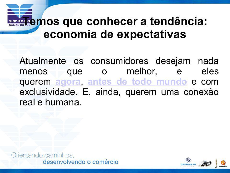 Temos que conhecer a tendência: economia de expectativas