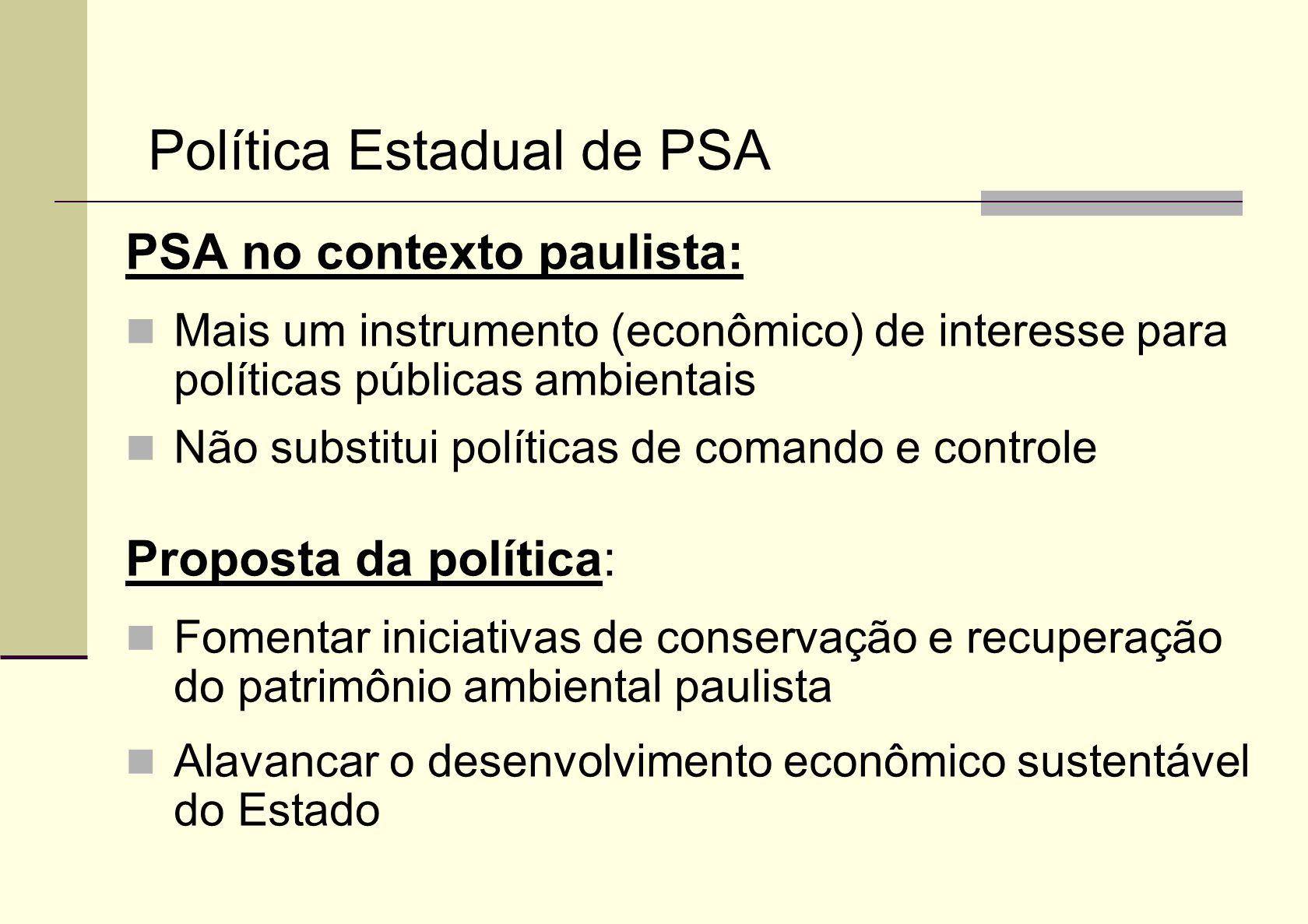 Política Estadual de PSA