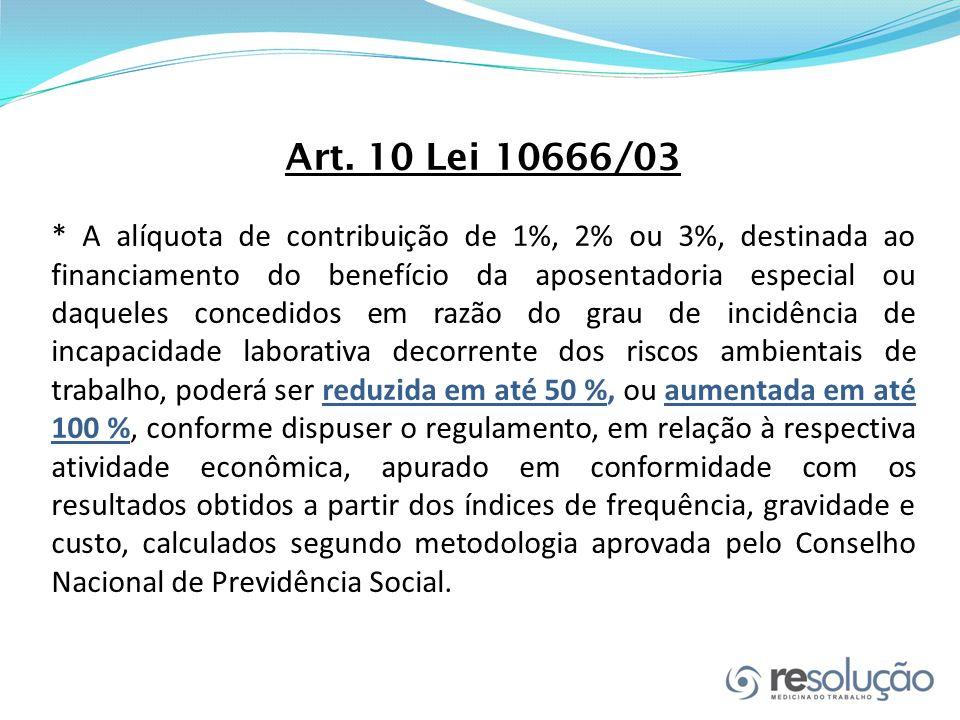 Art. 10 Lei 10666/03