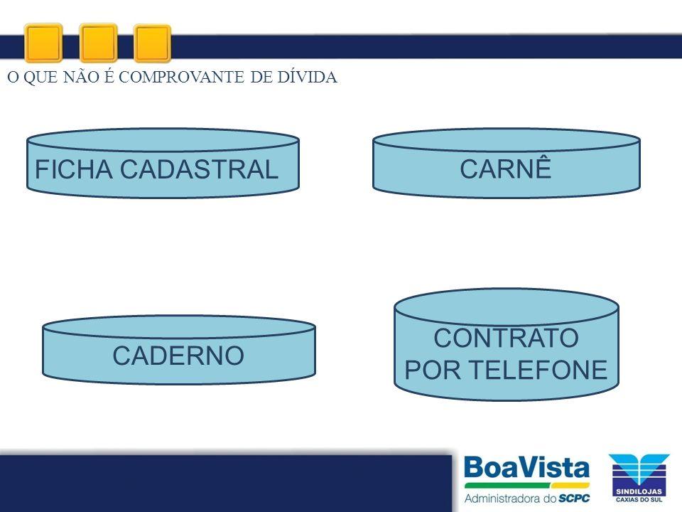 CARNÊ FICHA CADASTRAL CONTRATO POR TELEFONE CADERNO